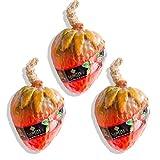 LABOTE Handgemachte thailändische Bio Naturseife Erdbeere mit typischem Duft, 3 Stück