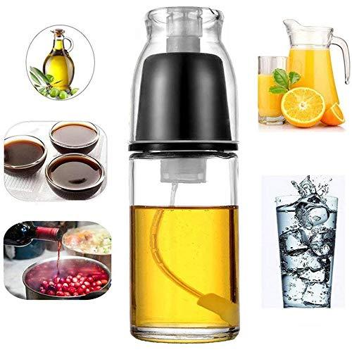 UNIIKE Olivenöl Sprayer Kochen Spray-Flasche Öl Pump-Zerstäuber Glas Pump Schorle für Barbecue und Backen