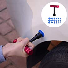 Shentesel T-Bar Auto Car Body Paintless Dent Repair Tool Hail Removal with 18 Puller Tabs - Red+Black