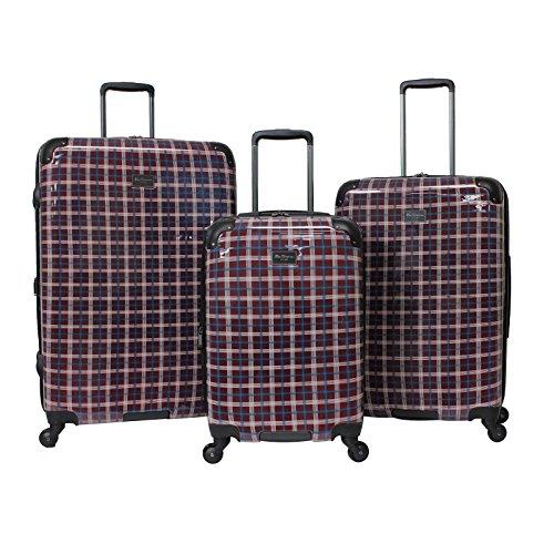 Ben Sherman Glasgow 3-Piece Lightweight Luggage Set Red