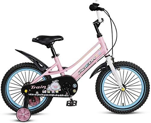 HongLianRiven BMX Kinderfahrrad Kinderfahrräder, Stützrad Geschlossener Kettenschutz Schnell-Adjust Sitz, und 14-Zoll-Räder 7-4
