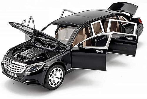 Truckks Mercedes - Mercedes-Benz Maybach Versión Extendida Del Modelo De Automóvil Simulación De Seis Puertas 1:24 Modelo De Aleación De Automóvil De Juguete Original Para Niño (Color: Vino Tinto, Ta
