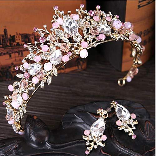 Diadema tipo corona de cristal hecha a mano, para bodas, novias, damas de honor, bailes, tocados de reina, accesorios para el pelo para bodas reales.