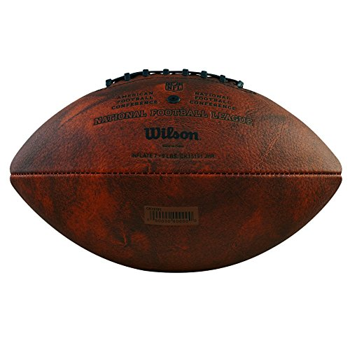 Wilson Unisex Adult NFL Junior Throwback 32 Team Logo Football, Brown/Multicolor, Official Size