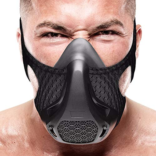 Training Mask | 24 Breathing Resistance Levels - Sport Workout Running Biking Fitness Jogging Cardio Exercise for Men Women | Imitate Workout at High Altitudes (Black)