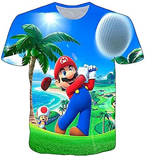 HSBZLH Camiseta Plateada Mujer Juego Super Mario 3D Camisetas Casual Y Divertido Streetwear Harajuku O-Cuello Camisetas Gran Tamaño Camisetas