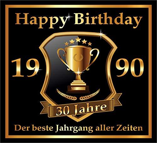 RAHMENLOS 3 St. Aufkleber zum 30. Geburtstag: 1990 der Beste Jahrgang Aller Zeiten - Selbstklebendes Flaschen-Etikett. Original Design