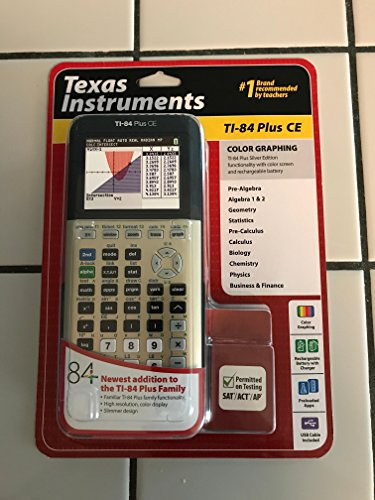 Texas Instruments TI-84 Plus CE Graphing Calculator, Gold