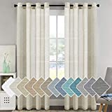 H.VERSAILTEX Home Decorative Privacy Window Treatment Linen Curtains/Natural Linen Blended...