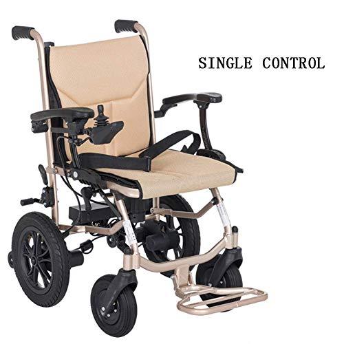 HXCD Rueda eléctrica - Ultraligero Batería de Litio de Dos Celdas Plegable Ligero Cuatro Ruedas Smart Anciano Discapacitados Scooter 15 kg, Control Dual, Control único