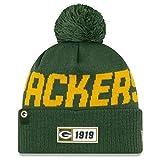 New Era Green Bay Packers Beanie Knit NFL 2019 On Field Road 1919 -