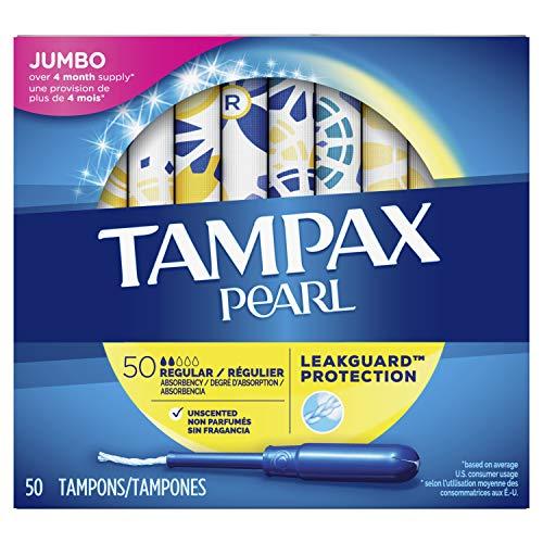 Tampax Pearl Plastic Tampons,...
