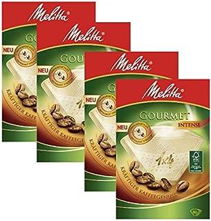 Melitta Lot de 4boîtes de 80filtres à café Gourmet Intense