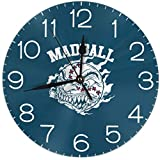New MADBALL Hardcore Rock Band Logo 壁掛け時計 シンプル デザイン 静音 非カチカチ音 円型 直径25 CM 家の装飾 現代の壁掛け時計