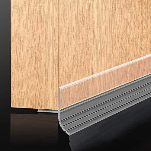 Vertical Two-Sided 300cm Door Window Seal Draught Excluder Tape Acrylic Adhesive Door Silicone Weatherstrip Soundproof Bottom Gap Seal Sweep Weatherproof Energy-Saving - Transparent