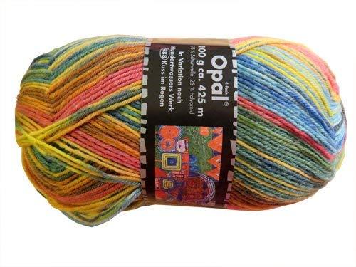 Opal Sockenwolle nach Hundertwasser Kuss im Regen