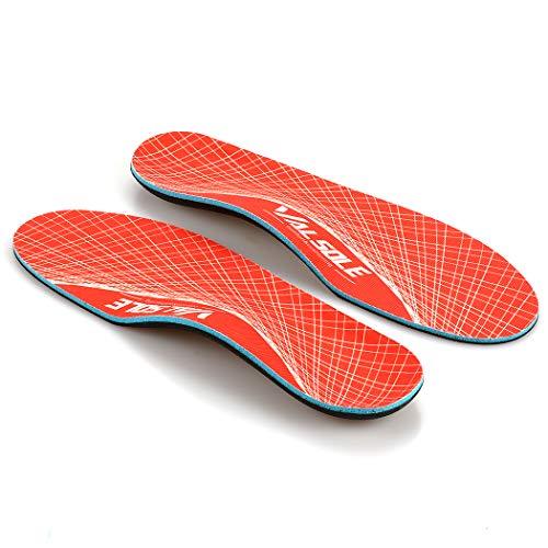Ortopediche Scarpe Solette-Donna-Uomo-Inserti supporto arco plantari ortopedici Sollievo dolore del piede per Fascite plantare, piedi piatti, sperone calcaneare (48-49 EU (310mm), Orange-V125)