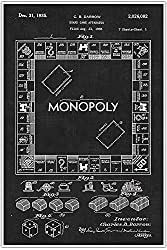 Image: Monopoly Board, Games and Toys, Blueprint Patent, Patent Poster, Blueprint Poster, Art, Gift, Poster Print, Patent Poster