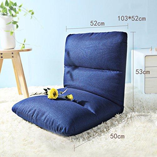 Chambre à Coucher Unique Confortable Paresseux Sofa90cm * 40cm (Couleur : Bleu, Taille : 103 * 52cm)
