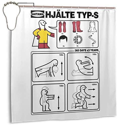 GSEGSEG Cortina de Ducha de poliéster Impermeable Tipo S IKEA Instrucciones, impresión...