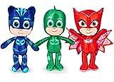 Pyjamasques Peluche à l'effigie des héros du dessin animé, au choix, 38cm Gecko