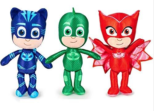 PJ Máscaras–Pijama Héroes de peluche 38cm Figura Selección, color Catboy