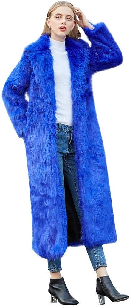 ✷ HebeTop Women Jacket Branded goods Womens Warm Louisville-Jefferson County Mall Fur Ho Soft Faux