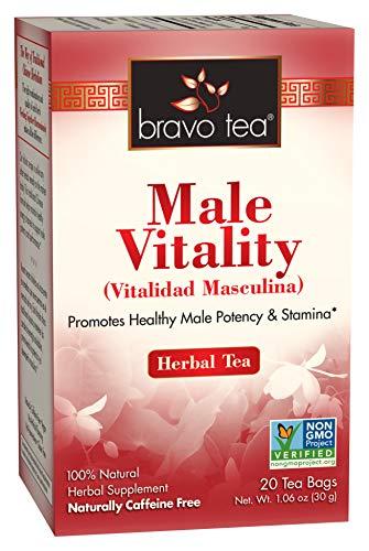 Bravo Tea, Male Vitality Herbal Tea, Caffeine Free, 20 Tea Bags
