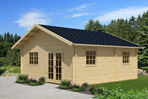 *Ferienhaus F11 inkl. Fußboden – 70 mm Blockbohlenhaus, Grundfläche: 36,00 m², Satteldach*