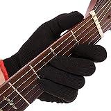 Guanto per chitarra per polpastrelli per dita Lavabile per polpette Guanto per musicista Guanto da pratica Adatto a musicisti professionisti e principianti, continua a giocare con tagli, molti problem