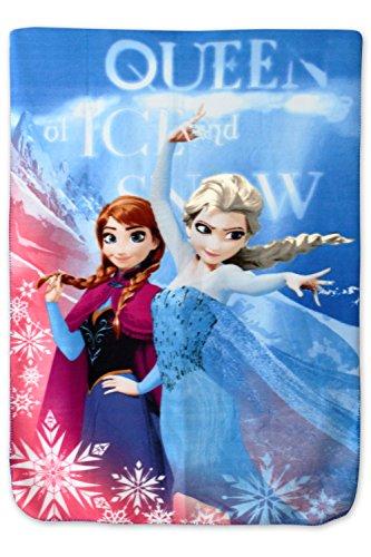 Couverture polaire - plaid polaire 140x100 cm frozen - reine des neige - Disney