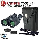 Canon 12x36 is III Image Stabilized Binocular Starters Bundle
