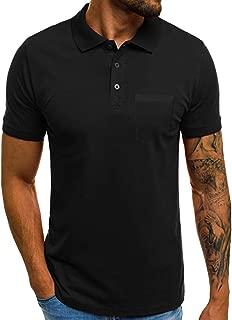 Fashion Premium Men's Business Polo Shirt, MmNote Solid Training Athletic Golf Polo Shirt Original Classic Short Sleeve