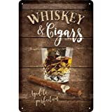 Nostalgic-Art 22257 Open Bar - Whiskey | Retro Blechschild | Vintage-Schild | Wand-Dekoration |...