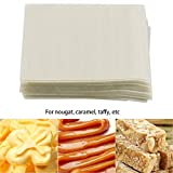 Turrón de papel, MAGT 500Pcs Turrón de papel Papel comestible de oblea de arroz Hojas de envoltura de caramelo hechas a mano para caramelo de turrón