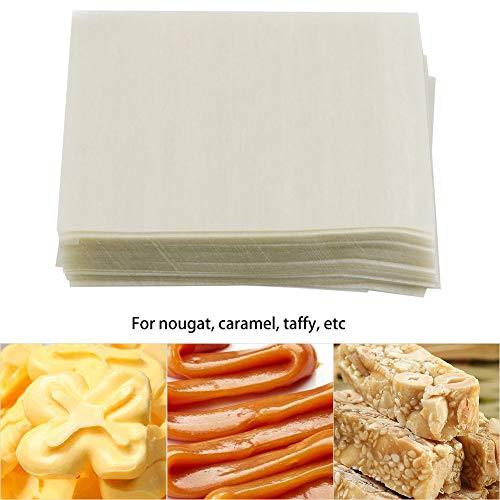 Nougatpapier, MAGT 500 stuks nougatpapier eetbare rijstwaffel papier handgemaakte snoepgoed inwikkelbladen voor nougat karamel