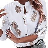 Luckycat Camiseta Basica Top de Camiseta con Piña Estampado