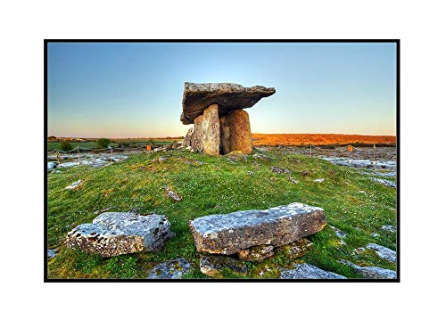 Ancient Polnabrone Dolmen in Burren, County Clare, Ireland 9022028 (24x16 Framed Gallery Wrapped Stretched Canvas)