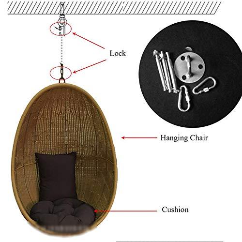 Z@SS Rattan Hanging Chair,Garden Patio Rattan Swing Chair Wicker Hanging Egg Hammock Indoor Or Outdoor