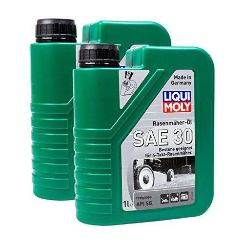 2x LIQUI MOLY 1264 Rasenmäher-Öl SAE 30 Motoröl API SG 1L