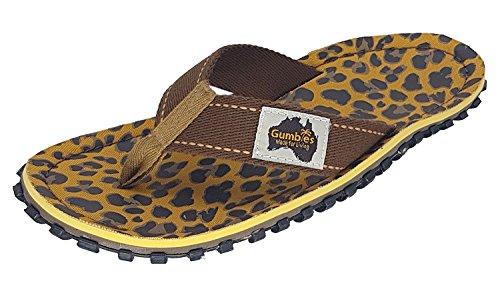Gumbies , Herren Dusch- & Badeschuhe, Gr.-42 EU, Leopard