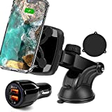 Wireless Car Charger, Cegar 10W Qi Dash Charger, Magnetic Wireless Phone Charger Mount, Charging Phone in Car, QC 3.0 Car Charger, Compatible with Phone 12/11/Xs/X, Samsung S10/S9, Google Pixel