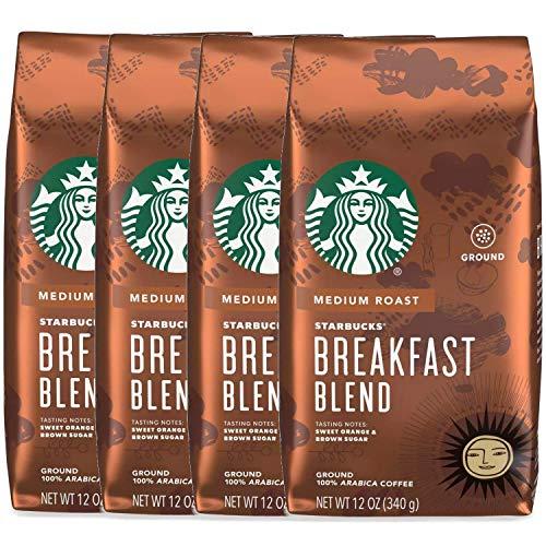 Starbucks Ground Coffee, Breakfast Blend, 12 OZ