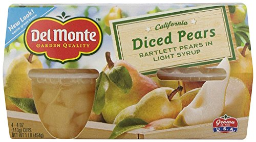 Del Monte, Diced Pears in Light Syrup, 16 Oz (pack of 4)
