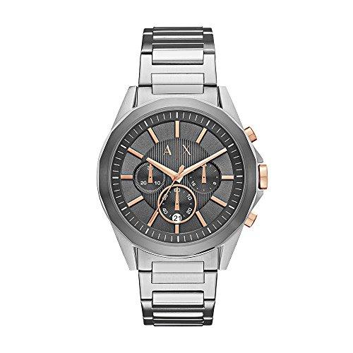Armani Exchange Reloj Cronógrafo para Hombre de Cuarzo con Correa en Acero Inoxidable AX2606