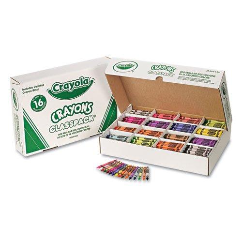 Crayola Crayon Classpack, Regular 3-5/8'x5/16', 800/BX, 16 Asst. Clrs