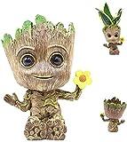 Lifattitude Baby Groot - Maceta para suculentas con agujero de drenaje para niños, padres, amigos (estilo 2)