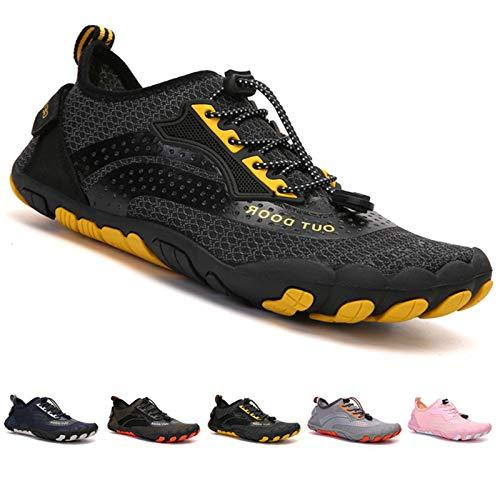 Zapatillas de Trail Running Minimalistas Zapatos Barefoot Agua Antideslizante Ligeras Natación de Secado Rápido Playa Surf Ciclismo Unisex Hombre Mujer Negro 36