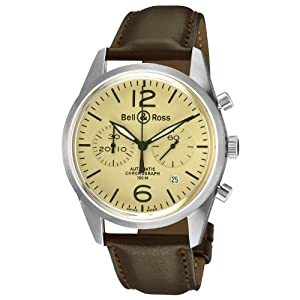 Bell & Ross Men's BR-126-ORIGINAL BEIGE Vintage Beige Chronograph Dial Watch image
