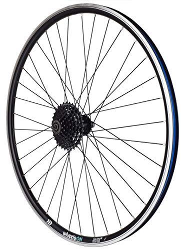wheelsON 700c Rear Wheel 8/9/10 spd Hybrid/Mountain Bike Double Wall 36h Black (+ 8 spd Shimano Cassette)